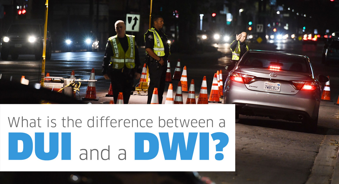 Difference between DUI and a DWI