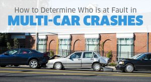 How to determine fault in multi-car crashes