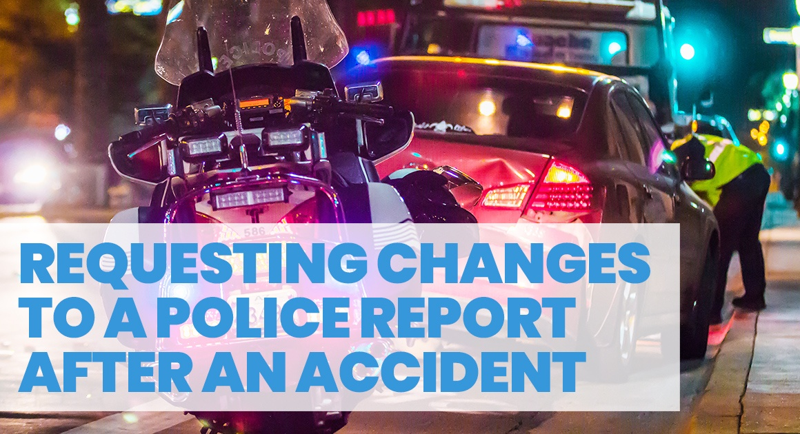 Requesting changes to a police report
